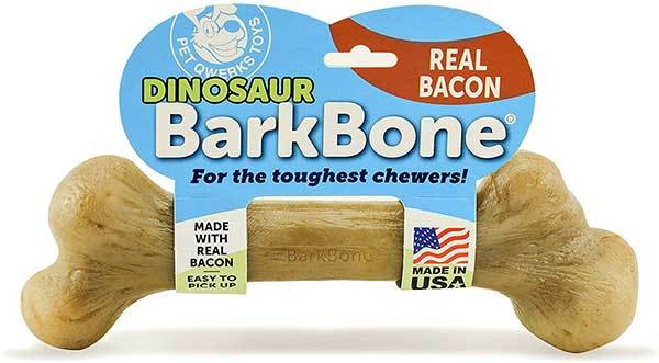 Bacon Dog Chew Toy for Aggressive Chewers
