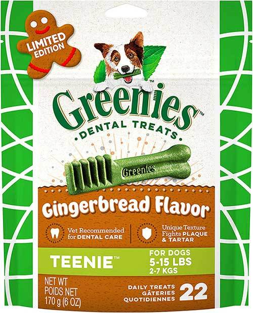 Greenies Gingerbread Flavor Natural Dental Dog Treats